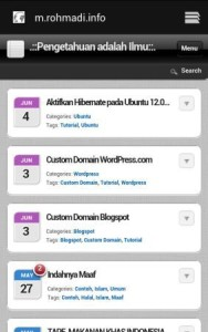 tampilan mobile wordpress